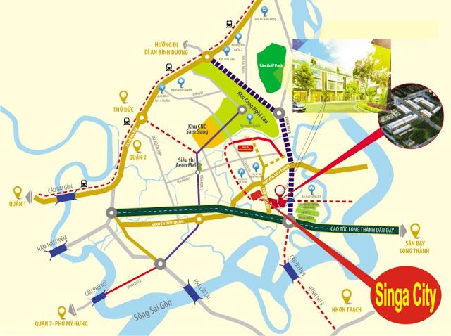 Vị trí dự án Singa city